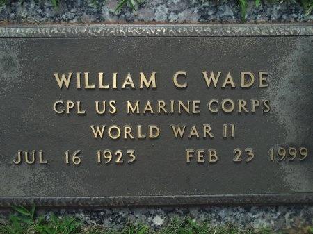 WADE (VETERAN WWII), WILLIAM C - Knox County, Tennessee   WILLIAM C WADE (VETERAN WWII) - Tennessee Gravestone Photos