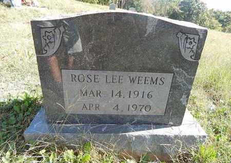 WEEMS, ROSE LEE - Knox County, Tennessee   ROSE LEE WEEMS - Tennessee Gravestone Photos
