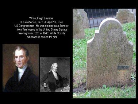 WHITE, HUGH LAWSON - Knox County, Tennessee | HUGH LAWSON WHITE - Tennessee Gravestone Photos