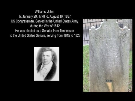WILLIAMS (VETERAN 1812), JOHN - Knox County, Tennessee | JOHN WILLIAMS (VETERAN 1812) - Tennessee Gravestone Photos