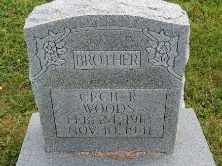 WOODS, CECIL R - Knox County, Tennessee | CECIL R WOODS - Tennessee Gravestone Photos
