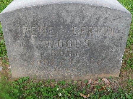 WOODS, IRENE - Knox County, Tennessee | IRENE WOODS - Tennessee Gravestone Photos