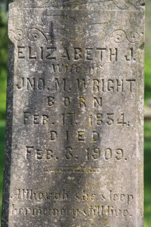 WRIGHT, ELIZABETH J. (CLOSE UP) - Knox County, Tennessee | ELIZABETH J. (CLOSE UP) WRIGHT - Tennessee Gravestone Photos
