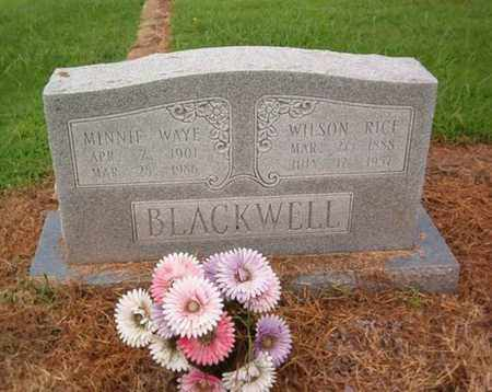 BLACKWELL, MINNIE WAYE - Lauderdale County, Tennessee | MINNIE WAYE BLACKWELL - Tennessee Gravestone Photos