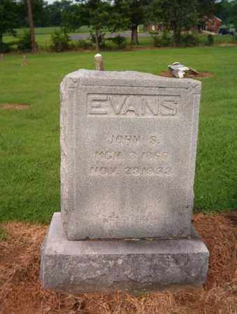 EVANS, JOHN S - Lauderdale County, Tennessee | JOHN S EVANS - Tennessee Gravestone Photos