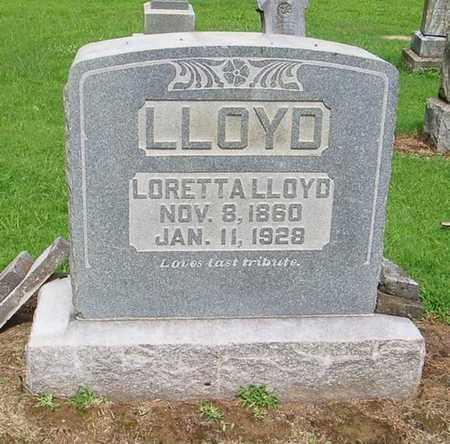LLOYD, LORETTA - Lauderdale County, Tennessee | LORETTA LLOYD - Tennessee Gravestone Photos