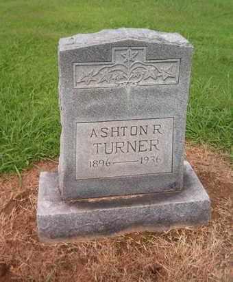TURNER, ASHTON R - Lauderdale County, Tennessee | ASHTON R TURNER - Tennessee Gravestone Photos