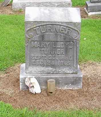 LLOYD TURNER, MARY - Lauderdale County, Tennessee | MARY LLOYD TURNER - Tennessee Gravestone Photos