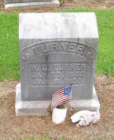 TURNER, W D - Lauderdale County, Tennessee | W D TURNER - Tennessee Gravestone Photos