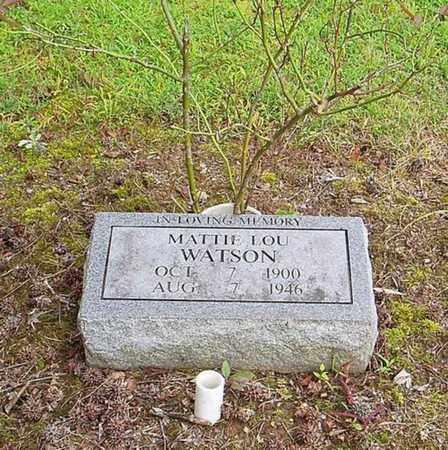 WATSON, MATTIE LOU - Lauderdale County, Tennessee | MATTIE LOU WATSON - Tennessee Gravestone Photos