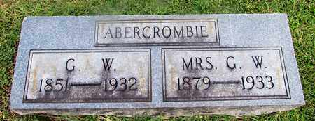 ABERCROMBIE, G. W. - Lawrence County, Tennessee   G. W. ABERCROMBIE - Tennessee Gravestone Photos