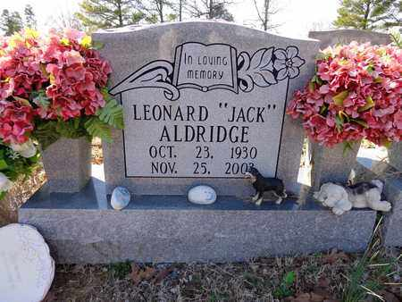 "ALDRIDGE, LEONARD ""JACK"" - Lawrence County, Tennessee | LEONARD ""JACK"" ALDRIDGE - Tennessee Gravestone Photos"