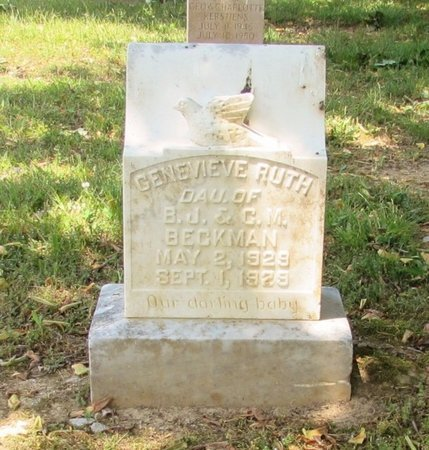BECKMAN, GENEVIEVE RUTH - Lawrence County, Tennessee | GENEVIEVE RUTH BECKMAN - Tennessee Gravestone Photos