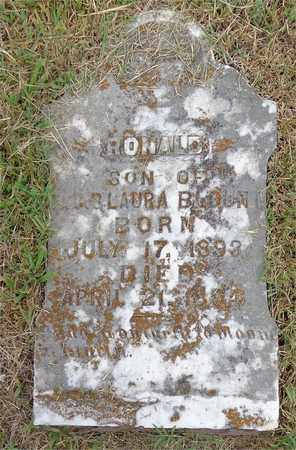 BLOUNT, RONALD - Lawrence County, Tennessee | RONALD BLOUNT - Tennessee Gravestone Photos