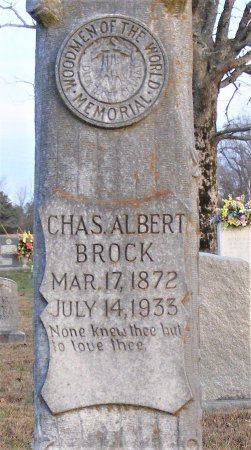 BROCK, CHARLES ALBERT (CLOSSEUP) - Lawrence County, Tennessee | CHARLES ALBERT (CLOSSEUP) BROCK - Tennessee Gravestone Photos