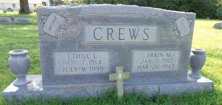 CREWS, LARKIN M. - Lawrence County, Tennessee   LARKIN M. CREWS - Tennessee Gravestone Photos