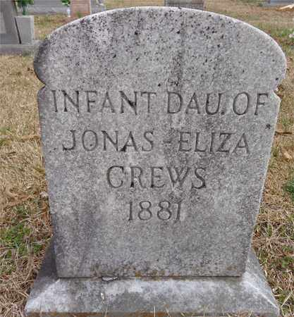 CREWS, INFANT DAUGHTER - Lawrence County, Tennessee | INFANT DAUGHTER CREWS - Tennessee Gravestone Photos