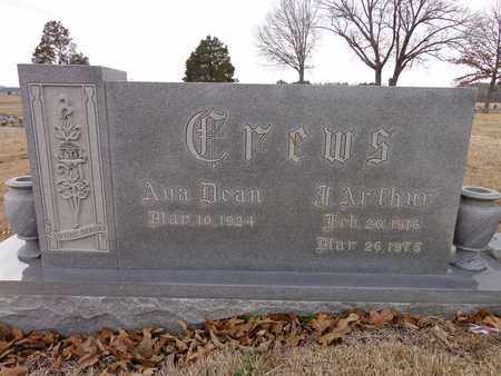 CREWS, J. ARTHUR - Lawrence County, Tennessee | J. ARTHUR CREWS - Tennessee Gravestone Photos