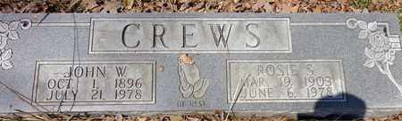 CREWS, ROSIE S - Lawrence County, Tennessee | ROSIE S CREWS - Tennessee Gravestone Photos