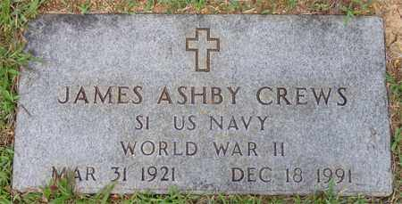 CREWS, JAMES ASHBY - Lawrence County, Tennessee | JAMES ASHBY CREWS - Tennessee Gravestone Photos