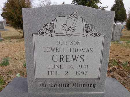 CREWS, LOWELL THOMAS - Lawrence County, Tennessee | LOWELL THOMAS CREWS - Tennessee Gravestone Photos