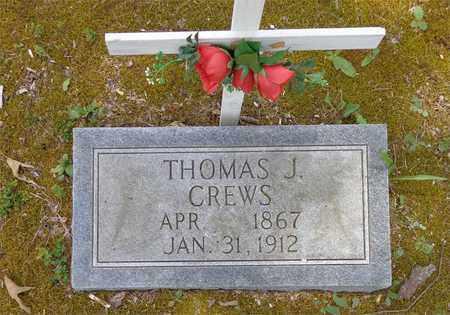 CREWS, THOMAS J. - Lawrence County, Tennessee   THOMAS J. CREWS - Tennessee Gravestone Photos