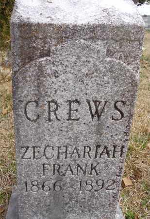 CREWS, ZECHARIAH FRANK - Lawrence County, Tennessee | ZECHARIAH FRANK CREWS - Tennessee Gravestone Photos