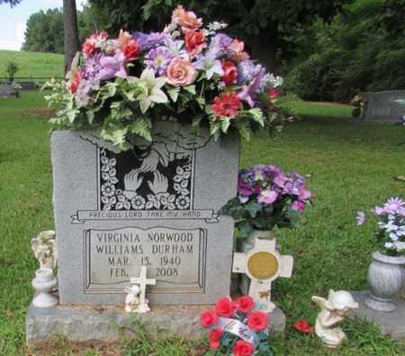 DURHAM, VIRGINIA NORWOOD - Lawrence County, Tennessee   VIRGINIA NORWOOD DURHAM - Tennessee Gravestone Photos