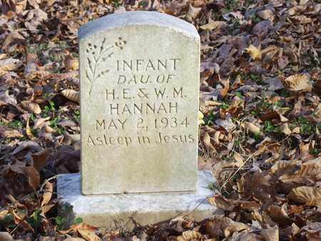 HANNAH, INFANT DAUGHTER - Lawrence County, Tennessee | INFANT DAUGHTER HANNAH - Tennessee Gravestone Photos