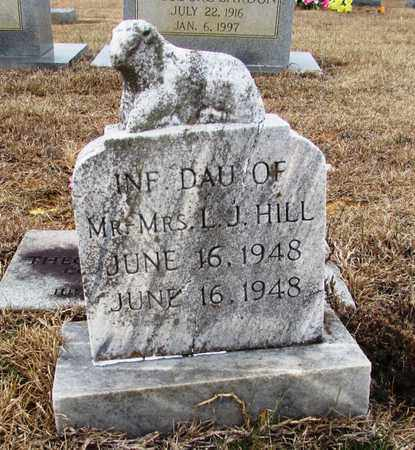 HILL, INFANT DAUGHTER - Lawrence County, Tennessee   INFANT DAUGHTER HILL - Tennessee Gravestone Photos