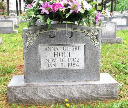 HOLT, ANNA GIESKE - Lawrence County, Tennessee | ANNA GIESKE HOLT - Tennessee Gravestone Photos