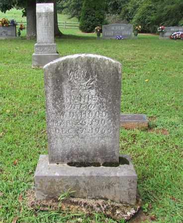 HOOD, NANIE - Lawrence County, Tennessee | NANIE HOOD - Tennessee Gravestone Photos