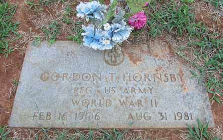 HORNSBY (VETERAN WWII), GORDON T. - Lawrence County, Tennessee | GORDON T. HORNSBY (VETERAN WWII) - Tennessee Gravestone Photos