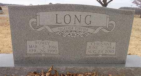 LONG, CHRISTINE - Lawrence County, Tennessee | CHRISTINE LONG - Tennessee Gravestone Photos