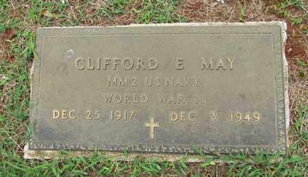 MAY (VETERAN WWII), CLIFFORD E. - Lawrence County, Tennessee | CLIFFORD E. MAY (VETERAN WWII) - Tennessee Gravestone Photos