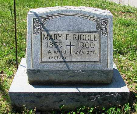 RIDDLE, MARY E. - Lawrence County, Tennessee   MARY E. RIDDLE - Tennessee Gravestone Photos