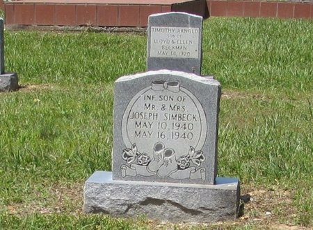SIMBECK, INFANT SON - Lawrence County, Tennessee | INFANT SON SIMBECK - Tennessee Gravestone Photos