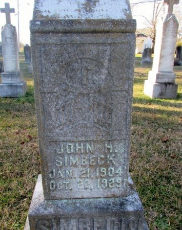 SIMBECK, JOHN H. - Lawrence County, Tennessee | JOHN H. SIMBECK - Tennessee Gravestone Photos