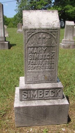 SIMBECK, MARY - Lawrence County, Tennessee | MARY SIMBECK - Tennessee Gravestone Photos
