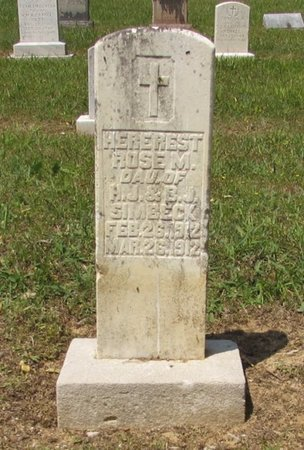 SIMBECK, ROSE M. - Lawrence County, Tennessee | ROSE M. SIMBECK - Tennessee Gravestone Photos