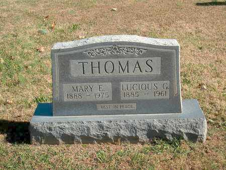 THOMAS, LUCIOUS G. - Lawrence County, Tennessee | LUCIOUS G. THOMAS - Tennessee Gravestone Photos