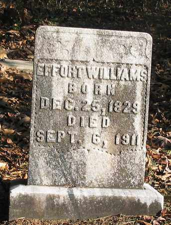WILLIAMS, EFFORT - Lawrence County, Tennessee | EFFORT WILLIAMS - Tennessee Gravestone Photos