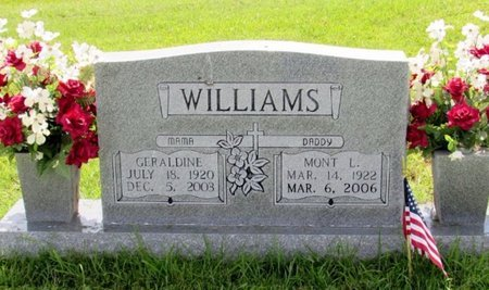 WILLIAMS, GERALDINE - Lawrence County, Tennessee | GERALDINE WILLIAMS - Tennessee Gravestone Photos