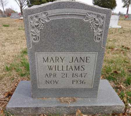 WILLIAMS, MARY JANE - Lawrence County, Tennessee | MARY JANE WILLIAMS - Tennessee Gravestone Photos