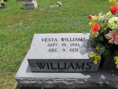 WILLIAMS, VESTA - Lawrence County, Tennessee | VESTA WILLIAMS - Tennessee Gravestone Photos