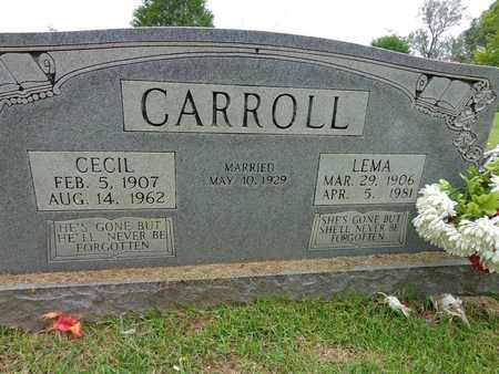 CARROLL, LEMA - Lewis County, Tennessee | LEMA CARROLL - Tennessee Gravestone Photos