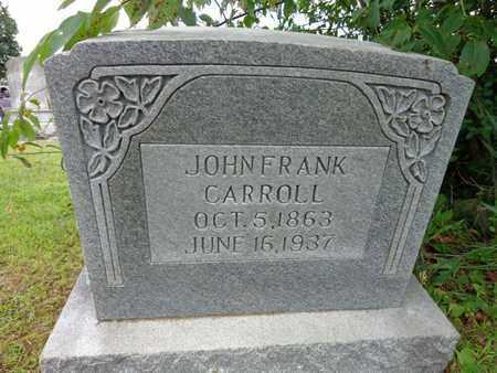 CARROLL, JOHN FRANK - Lewis County, Tennessee | JOHN FRANK CARROLL - Tennessee Gravestone Photos