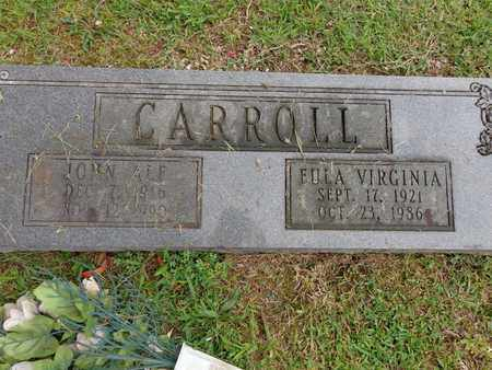 CARROLL, EULA VIRGINIA - Lewis County, Tennessee | EULA VIRGINIA CARROLL - Tennessee Gravestone Photos