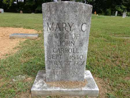 CARROLL, MARY C - Lewis County, Tennessee   MARY C CARROLL - Tennessee Gravestone Photos