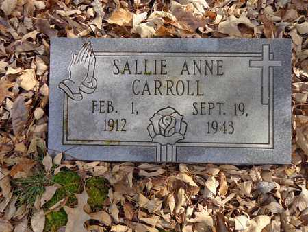 CARROLL, SALLIE ANNE - Lewis County, Tennessee | SALLIE ANNE CARROLL - Tennessee Gravestone Photos